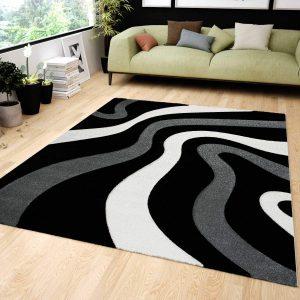 alfombras negras salón